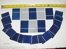 "45  2"" x 3""(51mmX76mm) solar cells .5 V x  1.2 A  = 21 watts diy solar panels"