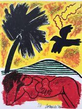 "Guillaume Corneille (Cobra) Lithographie originale signée ""Femme tropique"""