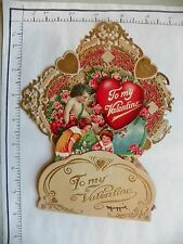 "Vintage Valentine'S Day Card; Germany; Dye Cut Embossed 4 Dimensional; ""To 1929"