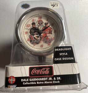 Dale Earnhardt Sr& Jr Collectible Retro Headlight Style Case Design Alarm Clock