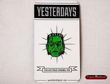 """Frankenstein Monster 1"""" Soft Enamel Black Metal Plated Lapel Pin Yesterdays.Co"""