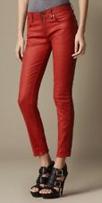 Burberry Red Leather Look Jeans