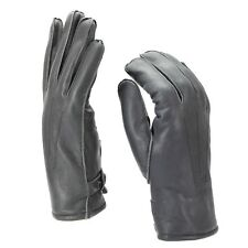 Genuine German Police leather gloves patrol grey lined wool 100% winter warm NEW