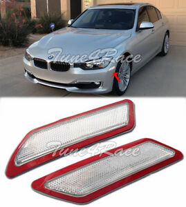 For 13-15 BMW F30 F31 3-Series Base Bumper Reflector CLEAR Side Marker Lights