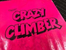 Taito Crazy Climber Arcade Machine Manual With Schematics Free Ship