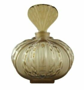 LALIQUE France Olive MIRABEL Frosted + Smooth CRYSTAL PERFUME Flacon/Bottle