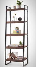 Rustic 5 Tier Bookshelf Ladder Industrial Design Bookcase Display Storage Unit