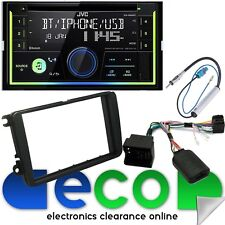 VW Touran JVC Double Din Bluetooth CD MP3 USB AUX Car Stereo & SWC Fitting Kit