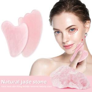 Quartz Facial Gua Sha Scraper Natural Jade Stone Board Massager Back Neck Body