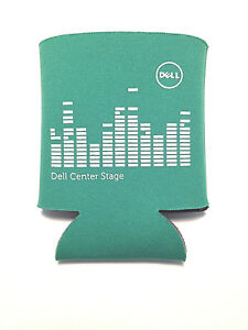 DELL Computers Center Stage Koozie Coozie Can Beer Cooler Green NEW