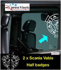 Scania window decals x 2. half badge truck graphics Vabis Griffin