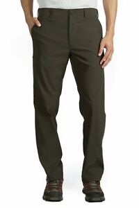 Green Color Unionbay Tech Men's Travel Pant Cargo Pocket Water Repel Size 30x34