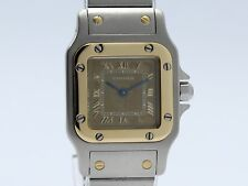 Cartier Santos Galbee Quartz Steel-Gold 1567 Lady