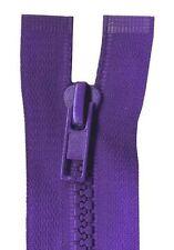 80cm Purple Open End Chunky Zip