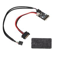1 Male to 2 Male Port USB 2.0 Header 9PIN to Dual 9PIN Extension with SATA Cable