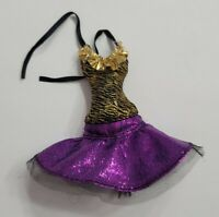 MONSTER HIGH DOLL CLOTHES GHOULS ALIVE CLAWDEEN WOLF PURPLE GOLD BLACK DRESS