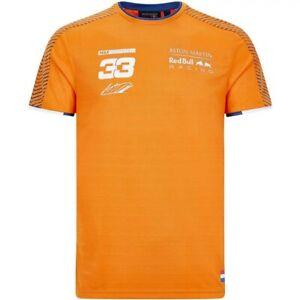 Red Bull Racing F1 Max Verstappen Orange Army Tee Shirt 2020