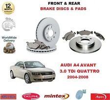 FOR AUDI A4 3.0 TDi AVANT QUATTRO 2004-2008 NEW FRONT & REAR BRAKE PADS & DISCS