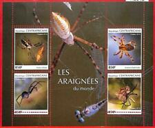 A1648 - CENTRAL AFRICAN R -ERROR: MISSPERF, MINIATURE S. - 2019, Spiders Insects