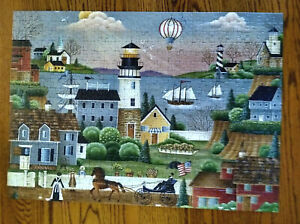 Ravensburger Beacons Cove Lighthouse Large Format 500 Pc Puzzle COMPLETE