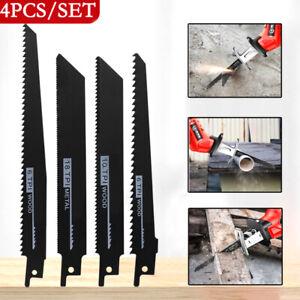 4PCS Reciprocating Saw Blades Set Electric Wood pruning Saw Blades  18TPI/10TPI