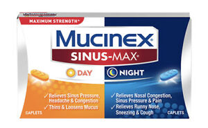 Mucinex Sinus-Max Day & Night Maximum Strength— 20 Caplets Total