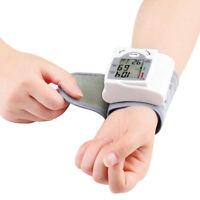 Digital LCD Wrist Blood Pressure Monitor Heart Beat Rate Pulse Meter Measure GR