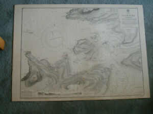 Vintage Admiralty Chart 2030 IRELAND - VALENCIA HARBOUR 1904 edn