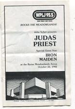 Judas Priest Iron Maiden 1982 Meadowlands New Jersey concert program MBX52