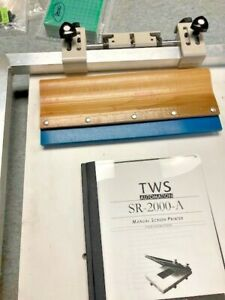 SMT Manual Screen Stencil Printer TWS Automation SR-2000-A with manual Perfect
