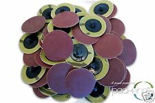 "25pc 2/"" Surface Conditioning Star Abrasive Disc Brown Coarse Grade"