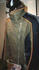Womens Spyder Winter Ski Board Coat LiteLoft Thinsulate Faux Fur Collar Size 8