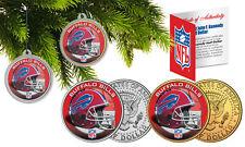 BUFFALO BILLS Colorized JFK Half Dollar 2-Coin Set NFL Christmas Tree Ornaments