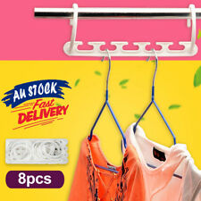 8x Space Saver Magic Hanger Hooks Clothes Clothing Coat Closet Organizer Storage