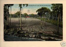 FLORIDA FARM LAND READY FOR PLANTING  1923 PLATVOET BOTKINS OHIO  POSTCARD