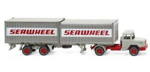 "Wiking 052402 - 1/87 Conteneur Tracteur (Magirus Deutz ) "" Seawheel "" - Neuf"