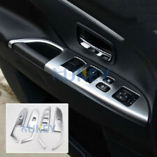 For Mitsubishi Outlander Sport ASX Chrome Inner Door Window Switch Panel Cover