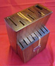 Emeril Lagasse Kitchen Knife Storage 15 Slot Solid Hardwood Wood Block Only