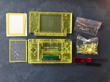 Nintendo DS Lite Full Replacement Housing Shell Screen Lens Clear Yellow US!