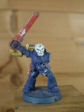 CLASSIC METAL WARHAMMER SPACE MARINE SERGEANT CHAINSWORD PAINTED (1628)