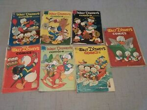 Dell Walt Disney's Comics and Stories 1951-56 Group of 7