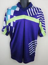 Adidas 90s 80s Football Shirt Retro Soccer Jersey Purple Mens 44/46 Large L
