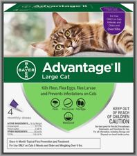 Bayer Advantage Ii Flea Treatment for Large Cats Over 9 lbs, 4 Monthly Doses !