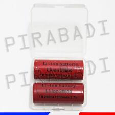 2 PILES ACCUS RECHARGEABLE 26650 7200mAh 3.7V Li-ion + BOITE DE RANGEMENT