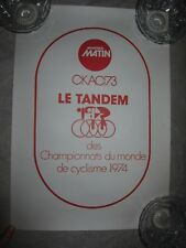 Vtg poster, Montreal Matin CKAC Le Tandem des Championnats du monde de cyclisme