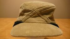 VINTAGE HABAND MENS LARGE SKI HAT W/ EAR FLAP  CORDUROY MADE IN USA