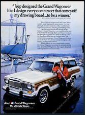 1985 Jeep Grand Wagoneer yacht designer Bruce Nelson photo vintage print ad