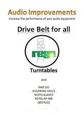 Rega Planar Drive Belt NAD 533 Goldrind 1 2 Moth Alamo - (pair) NEW