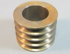 """Unknown Brand 4 Groove, 2.5"""" Bore, 4-1/8"""" Dia. 3.25"""" Width Sheave / Pulley NWOB"""