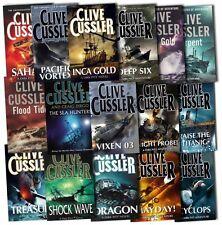 Clive Cussler Dirk Pitt Series Collection 16 Books Set Pacific Vortex, Deep Six